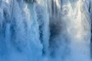 Godafoss waterfall of Iceland during winter. by Martin Zwick