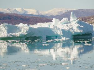 Iceberg in the Pakitsoq Fjord System, in the background the Nuussuaq Peninsula. Greenland by Martin Zwick