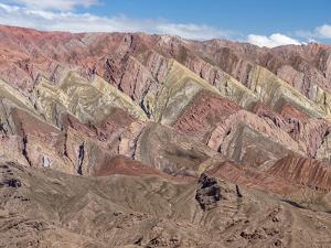 Iconic rock formation Serrania de Hornocal in the Quebrada de Humahuaca canyon, a , Argentina by Martin Zwick