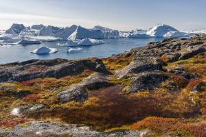 Ilulissat Icefjord also called kangia or Ilulissat Kangerlua at Disko Bay. by Martin Zwick
