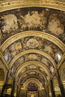 Interior of St. Johns Co-Cathedral in Valletta, Malta by Martin Zwick