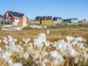 Inuit village Oqaatsut (once called Rodebay) located in Disko Bay. Greenland by Martin Zwick