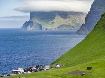 Island Kalsoy, village Trollanes, Faroe Islands, Denmark by Martin Zwick