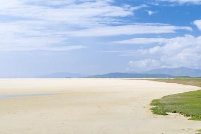 Isle of Harris, Tidal Flats at Scarista Beach at Low Tide. Scotland