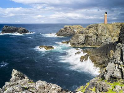 Isle of Lewis, Coast and Lighthouse at the Butt of Lewis. Scotland