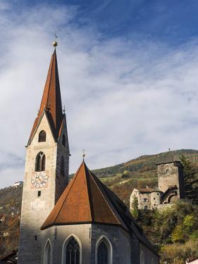 Klausen, Old Town and Church, Castle Branzoll, South Tyrol, Italy by Martin Zwick