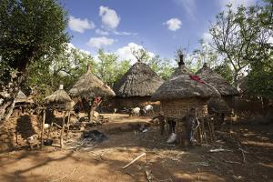 Konso Village, Rift Valley, Family Compound, Ethiopia, Africa by Martin Zwick