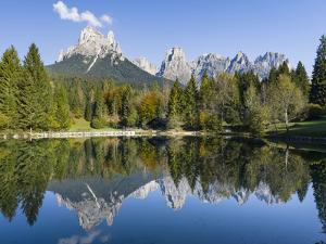 Lago Welsperg. Valle del Canali in the mountain range Pale di San Martino, Italy. by Martin Zwick