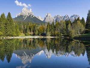 Lago Welsperg. Valle del Canali in the mountain range Pale di San Martino, Italy. by Martin Zwick