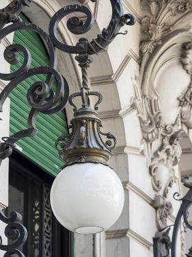 Lamps on street Diagonal Norte in the Microcentro. Buenos Aires, capital of Argentina. by Martin Zwick