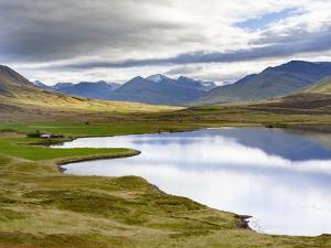 Landscape at Miklavatn, Trollaskagi, near Siglufjordur. Northern Iceland by Martin Zwick