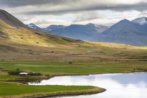 Landscape at Miklavatn, Trollaskagi, near Siglufjordur. by Martin Zwick