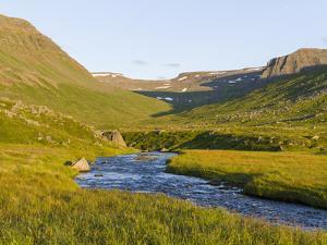 Landscape at Skalavik. The Westfjords (Vestfirdir) in Iceland. by Martin Zwick