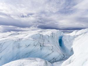 Landscape on the Greenland Ice Sheet near Kangerlussuaq. Greenland by Martin Zwick