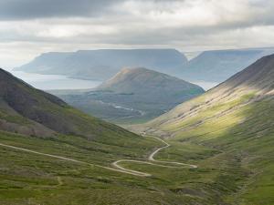 Landscape on the Thingeyri peninsula, northwest Iceland. by Martin Zwick