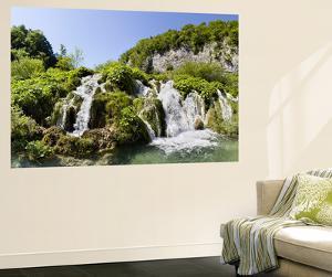 Lower Lakes Cascade in Lake Kaluderovac, Plitvice Lakes, Plitvicka Jezera, Croatia by Martin Zwick