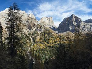 Marmolada from Val Contrin in the Fassa Valley, left Gran Vernel, right Ombreta. by Martin Zwick