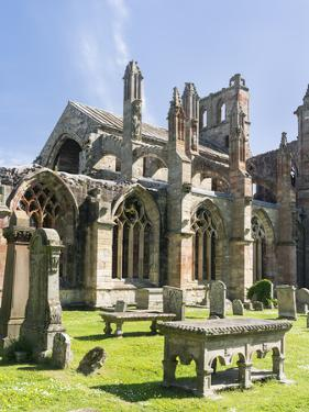 Melrose Abbey in the Scottish Borders. by Martin Zwick