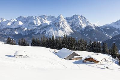 Mieminger Mountain Chain During Winter, Tyrol, Austria by Martin Zwick
