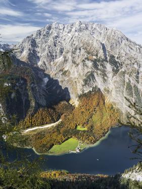Mt. Watzmann and Lake Koenigsee, Berchtesgaden NP, Bavaria, Germany by Martin Zwick