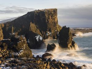 North Atlantic Coast During Winter Near Reykjanesviti and Valahnukur. Iceland by Martin Zwick