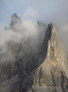 Peaks towering over Val Venegia seen from Passo Costazza. Pale di San Martino in the Dolomites by Martin Zwick