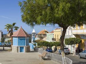 Praca 12 de Setembro. Sao Filipe, the capital of the island. Fogo Island by Martin Zwick