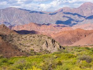Quebrada de las Conchas. A canyon with rock formations created by Rio de las Conchas, Argentina by Martin Zwick