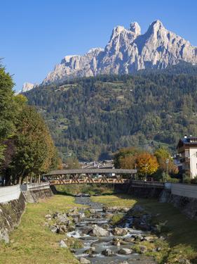 River Cismon, in the background Pale di San Martino. Trentino, Italy. by Martin Zwick