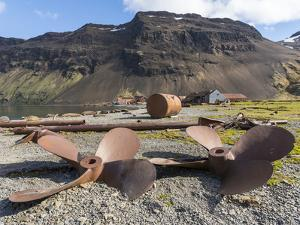 Ruins of Stromness Whaling Station in South Georgia. by Martin Zwick