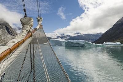 Sailing ship in the Uunartoq Fjord, Puiattukulooq Bay. Southern Greenland, Denmark by Martin Zwick
