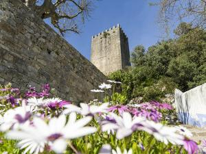 The castle. Historic medieval old town of Obidos, a tourist attraction north of Lisbon, Portugal by Martin Zwick