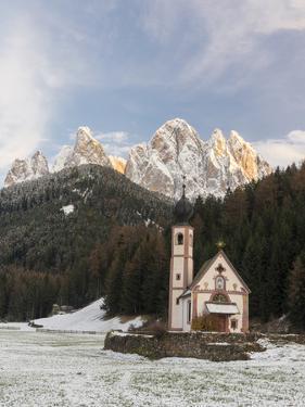 The Church St. John in Ranui, Geisler, Alto Adige, South Tyrol, Italy by Martin Zwick