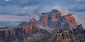 The dolomites in the Veneto. Monte Pelmo, Averau, Italy by Martin Zwick