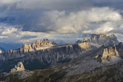 The dolomites in the Veneto. Monte Pelmo, Croda da Lago, Averau, Italy by Martin Zwick