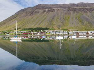 The harbor. Isafjordur, capital of the Westfjords (Vestfirdir) in Iceland. by Martin Zwick
