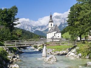 The parish church of Ramsau in Bavaria, Bavaria, Germany. by Martin Zwick