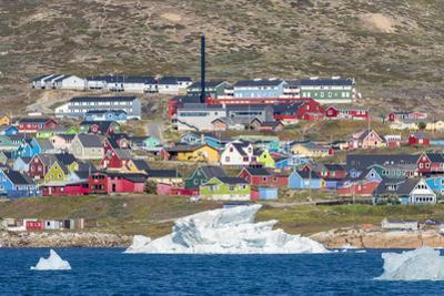 The small town Narsaq in the South of Greenland. by Martin Zwick