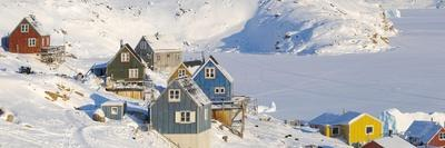 The traditional and remote Greenlandic Inuit village Kullorsuaq located at the Melville Bay