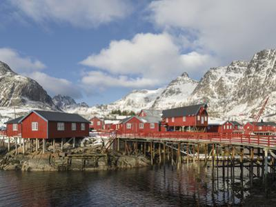 Tradition fishing huts, A i Lofoten, Moskenesoya. Lofoten Islands. Norway by Martin Zwick