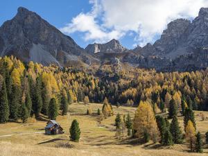 Val San Nicolo in Val di Fassa. Marmolada mountain range in the Dolomites of Trentino. by Martin Zwick