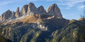 View of Langkofel (Sasso Lungo) from Val Contrin in the Marmolada mountain range in the Dolomites by Martin Zwick