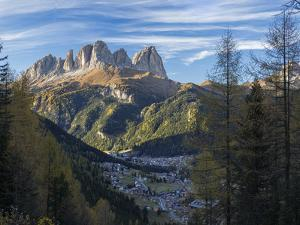 View of Langkofel (Sasso Lungo) from Val Contrin in the Marmolada mountain range in the Dolomites. by Martin Zwick