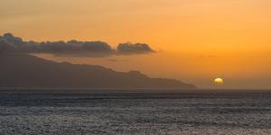 View towards Brava island from Sao Filipe, the capital of the island. Fogo Island by Martin Zwick