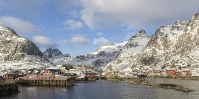 Village A i Lofoten on the island Moskenesoya. Lofoten Islands. Norway by Martin Zwick