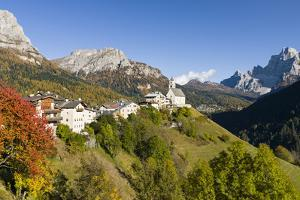 Village Colle San Lucia in Val Fiorentina. Dolomites, Italy by Martin Zwick