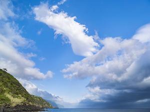 Village in Calheta, view along the southern coast. Sao Jorge Island, Azores, Portugal. by Martin Zwick