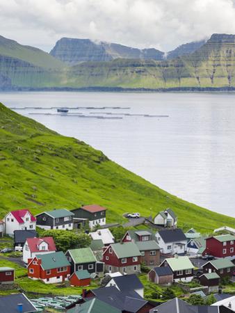 Village of Funningur, Leiriksfjordur and the island Kalsoy, Denmark by Martin Zwick