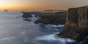 Volcano cross section, Eshaness peninsula, Shetland islands, Scotland. by Martin Zwick