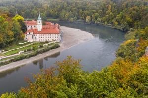 Weltenburg Monastery and the Danube Gorge During Fall. Germany by Martin Zwick